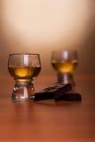Cognac and chocolate Stock Photo