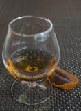 Cognac with chocolate Royalty Free Stock Photo