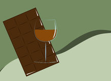 Cognac and Chocolate Royalty Free Stock Photography