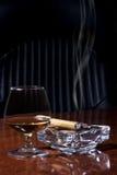 Cognac and Cigar Stock Photo