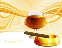 cognac de cigare Photographie stock libre de droits