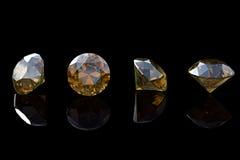 Cognac diamant. Samlingar av smyckengems Royaltyfria Bilder