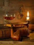 Cognac e tubo Fotografia Stock