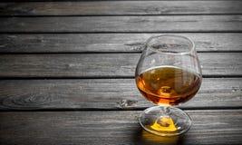 Cognac in een glas royalty-vrije stock foto