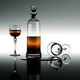 Cognac in een karaf Royalty-vrije Stock Afbeeldingen