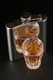 Cognac en fles stock fotografie