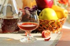 Cognac en fruit royalty-vrije stock fotografie
