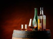 Cognac en wisky stock fotografie