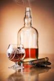 Cognac et cigare photo libre de droits