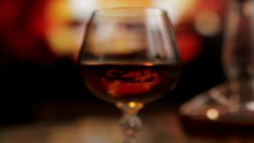 Cognac and fireplace stock video