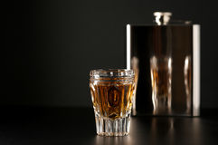 Cognac and flask Royalty Free Stock Photography