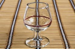 Cognac glass royalty free stock photography