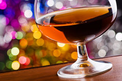 Cognac in a glass Royalty Free Stock Images