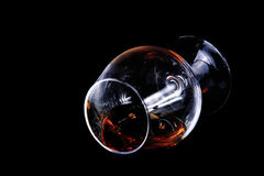 Cognac glass Royalty Free Stock Images
