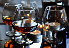 Cognac in a glass Royalty Free Stock Photography