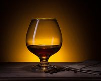 Cognac glass Stock Photography
