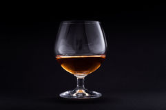 Cognac in glass Stock Photography