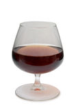 Cognac in glass on white Stock Photos