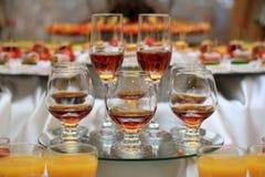 Cognac glasses Stock Images