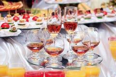 Cognac glasses Stock Photography