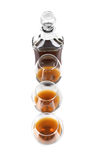 Cognac in goblet and decanter Royalty Free Stock Photo