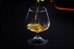 Cognac i ett exponeringsglas Royaltyfria Bilder