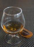 Cognac met chocolade Royalty-vrije Stock Foto