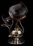 Cognac op een brand Royalty-vrije Stock Afbeelding