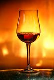 Cognac in tulip glass Stock Image