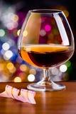 Cognac in un vetro Fotografia Stock Libera da Diritti