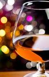 Cognac in un vetro Fotografie Stock Libere da Diritti