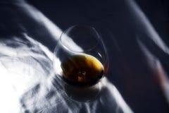 Cognac in vetro Immagini Stock