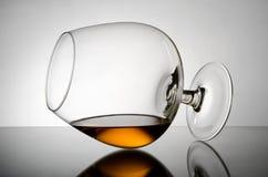 Cognac wineglass royaltyfria bilder