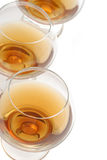 Cognac wineglass background Stock Photography
