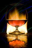 cognacexponeringsglas Fotografering för Bildbyråer