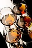 cognacexponeringsglas Royaltyfri Foto