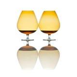 cognacexponeringsglas två Royaltyfri Foto
