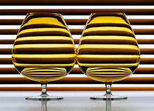 cognacexponeringsglas två Royaltyfria Foton