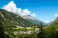 Cogne and the Gran Paradiso National Park Stock Images
