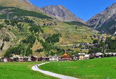 Cogne, Gran Paradiso Royalty Free Stock Images