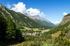 Cogne i Granu Paradiso park narodowy Fotografia Royalty Free
