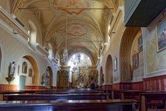 COGNE ITALY/EUROPE - OKTOBER 26: Inre sikt av Sant ` Orso Ch fotografering för bildbyråer