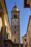 COGNE ITALY/EUROPE - OKTOBER 26: Sikt av Sant ` Orso Church Towe royaltyfria bilder