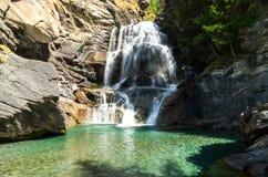 Cogne och den Gran Paradiso nationalparken Fotografering för Bildbyråer