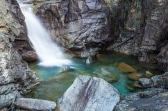 Cogne och den Gran Paradiso nationalparken Arkivbild
