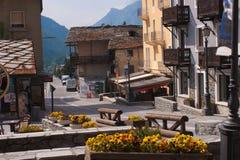 Cogne som är val av aostaen, Italien arkivfoton