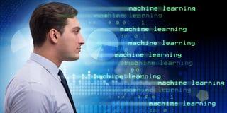 Cognitief gegevensverwerking en machine het leren concept royalty-vrije stock afbeeldingen