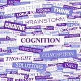 COGNITION. Background concept wordcloud illustration. Print concept word cloud. Graphic collage Stock Image