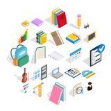 Cognition icons set, isometric style. Cognition icons set. Isometric set of 25 cognition vector icons for web isolated on white background Royalty Free Stock Photos