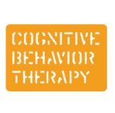 Cognitive behavior sign flat illustration. Cognitive behavior sign on white background Flat illustration royalty free illustration